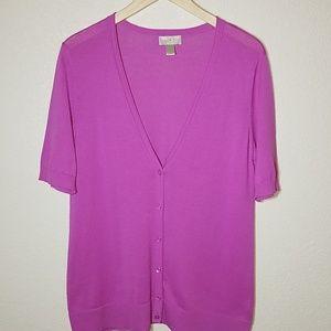 Loft Women's 3/4 sleeve Cardigan. Size L
